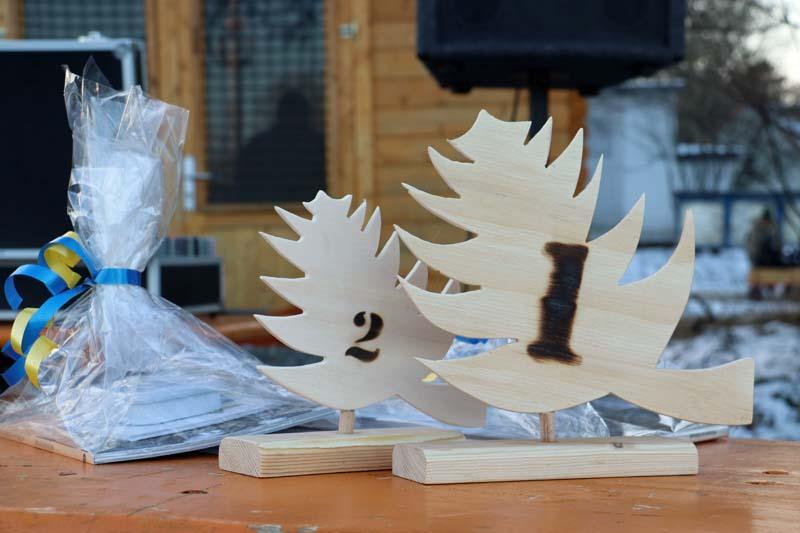 Preis beim Hiddenseer Weihnachtsbaumweitwurf