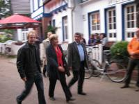 Thomas Gens, Angela Merkel und Burkhard Lenz