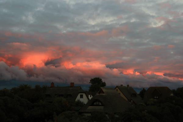 Feuerwolken über Hiddensee am 30.09.13