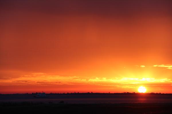Sonnenaufgang auf Hiddensee am 23.10.13.