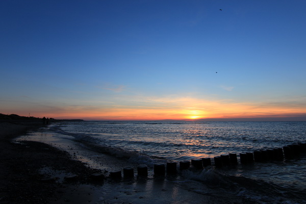 Sonnenuntergang auf Hiddensee am 31.12.2013