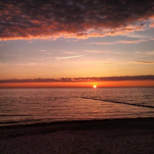 Sonnenuntergang am 17. Mai 2014.