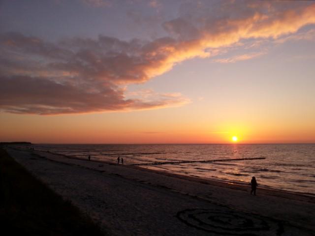 Sonnenuntergang auf Hiddensee am 8. November 2014