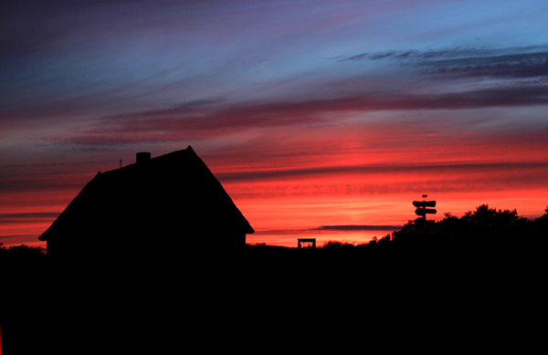 Nach dem Sonnenuntergang am Fischereimuseum in Neuendorf